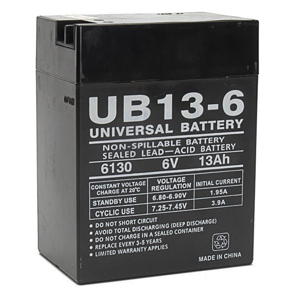 6V 13AH SLA Sealed Lead Acid  Battery UB6130 UPG