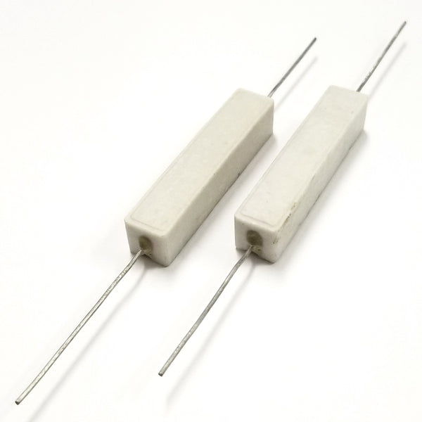 Lot of 2, 60 Ohm 10 Watt Wirewound Ceramic Power Resistors 10W