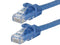 1 Foot BLUE CAT5e Ethernet Patch Cable with Snagless Flexboot Ends MV11261