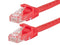 1 Foot RED CAT5e Ethernet Patch Cable with Snagless Flexboot Ends MV11269