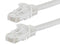 1 Foot WHITE CAT5e Ethernet Patch Cable with Snagless Flexboot Ends MV11270