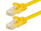 1 Foot YELLOW CAT5e Ethernet Patch Cable with Snagless Flexboot Ends MV11271
