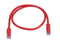 1 Foot RED CAT6 Ethernet Patch Cable with Snagless Flexboot Ends MV11275