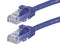 7 Foot BLUE CAT5e Ethernet Patch Cable with Snagless Flexboot Ends MV11387