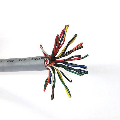 10' 19 Pair 24 Gauge Stranded Shielded Cable 10 Foot Length ~ 24AWG 19 Pair - MarVac Electronics