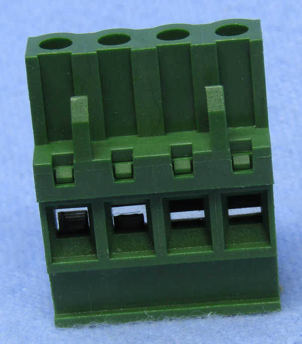 Philmore 13-2504, 4 Position Vertical Female Euro Mag DePluggable Terminal Block