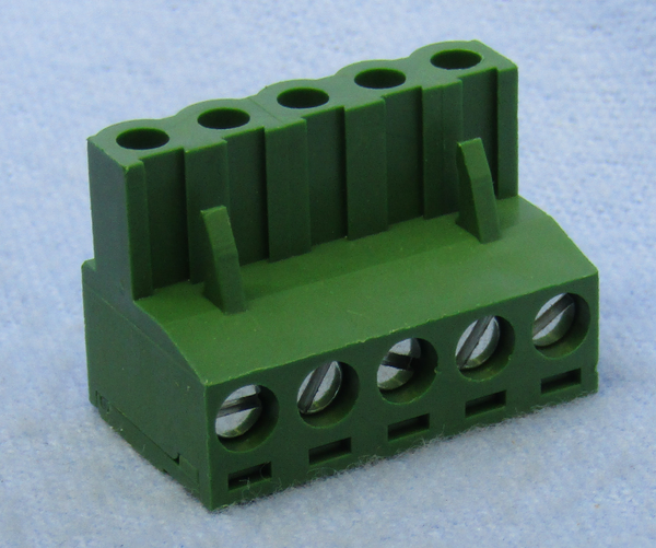 Philmore 13-2605, 5 Position Horizontal Female Euro Mag DePluggable Terminal Block