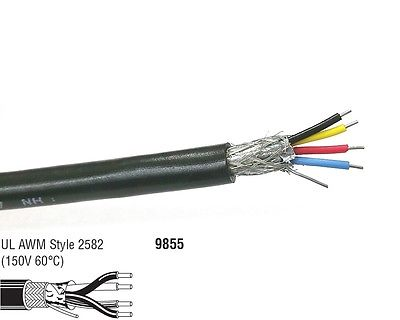 10' Belden 9855 2 Pair 22AWG SOLID Shielded Pair, Computer P.O.S. Cable - MarVac Electronics