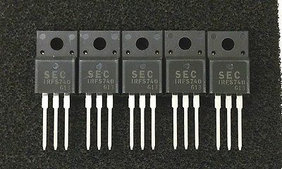 Lot of 5 SEC Samsung IRFS740 5.5 Amp 5.5A 400 Volt N Channel Power Mosfets - MarVac Electronics