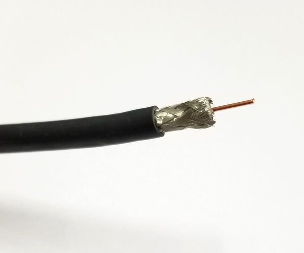 25' Belden 1694A RG-6/U Type Low Loss Serial Digital Coax Cable, 25 Foot Black