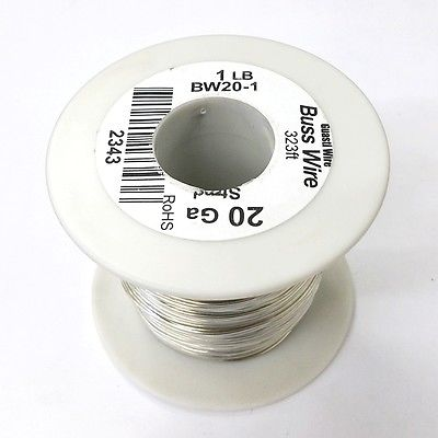 20 Gauge Tinned Copper Bus Wire, 1 Pound Roll (323' Approx. Length) 20AWG - MarVac Electronics
