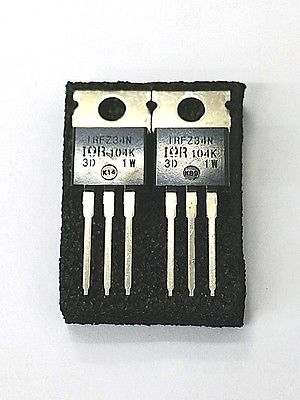 Lot of 2 IRF International Rectifier IRFZ34N 29A, 55V N Channel Power Mosfet - MarVac Electronics