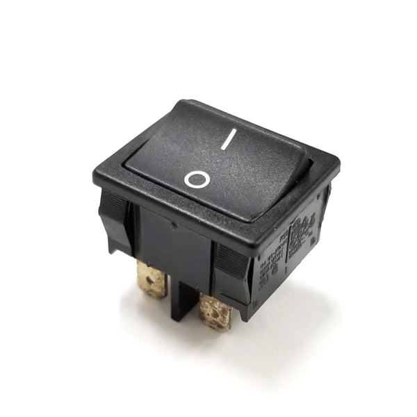 Marquardt 1802 DPST ON-OFF Black Rocker Switch 10A @ 125V ~ 250V AC