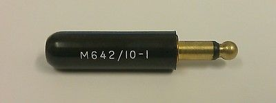 "Switchcraft 450 (M642/10-1, PJ-540B) Mil-Type Microphone Connector 2C 1/4"" Switchcraft 450 NOS"
