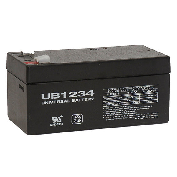 12V 3.4AH SLA Battery F1 Terminals UB1234 F1