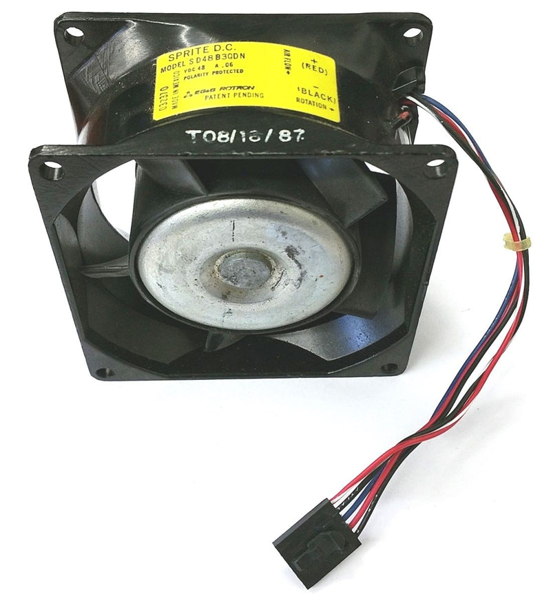 EG&G Rotron, Sprite DC SD48B3QDN (032370) 80mm x 42mm 35 CFM 48V DC Fan - MarVac Electronics