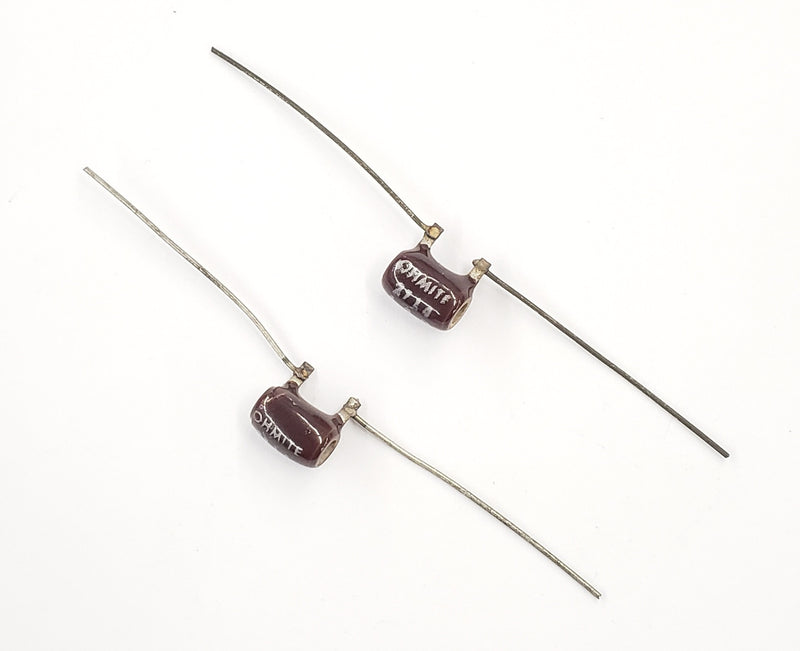 Lot of 2, Ohmite 2714  1.2 Ohm 3 Watt Wirewound Power Resistors 3W