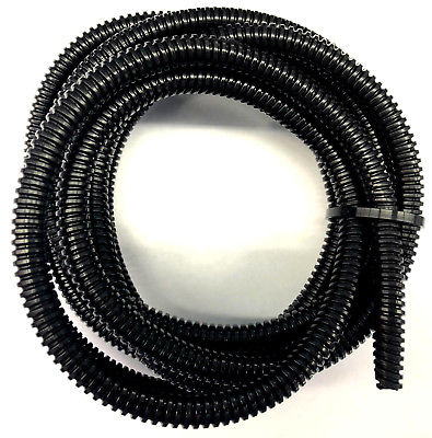 10ft Black Split Loom 1/4'' Diameter, 10 feet 1/4'' Flexible Convoluted Tubing