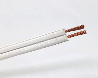 25' SPT-2 16/2 WHITE Lamp Cord, 16 Gauge 10 Amp 300V AC 105°C Rated 16AWG - MarVac Electronics