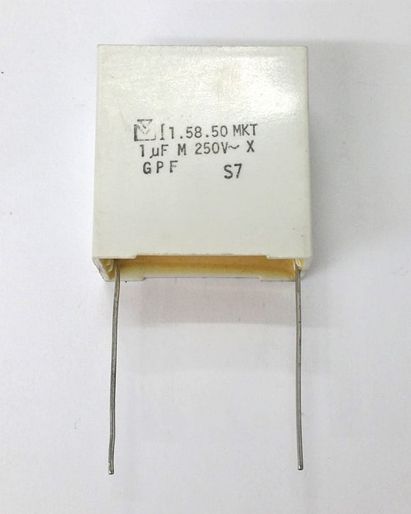 Mallory 1uF 250V DC Polyester Film Capacitors ~ MKT 1.58.50 GPF, S58105M250S - MarVac Electronics