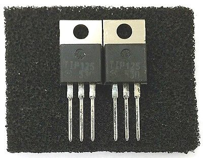 Lot of 2 Motorola TIP125 5 Amp 5A 60 Volt PNP Darlington Transistors - MarVac Electronics
