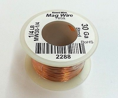 30 Gauge Insulated Magnet Wire, 1/4 Pound Roll (785' Approx. Length) 30AWG - MarVac Electronics