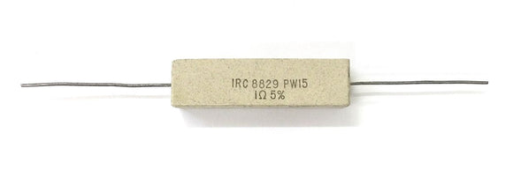 IRC PW-15-1 (PW150010J), 1 Ohm 15 Watt 5%, Axial Leaded Power Resistor 15W - MarVac Electronics