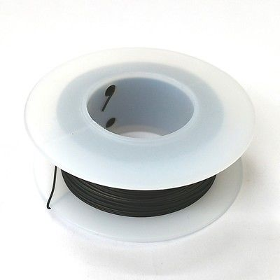 100' Page 28AWG BLACK KYNAR Insulated Wire Wrap Wire 100 Foot Roll ~ Made In USA - MarVac Electronics