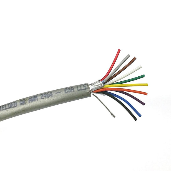 25' Quabbin 8200 10 Conductor 24 Gauge Shielded Cable 25 Foot Length ~ 10C 24AWG - MarVac Electronics