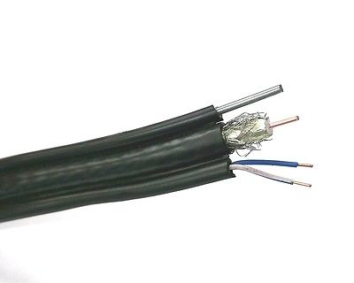Commscope 9900963 Brightwire® RG-6 Coax, 1 Pair 22AWG solid & Steel Messenger - MarVac Electronics