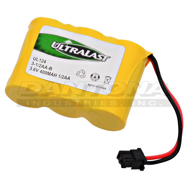 3.6V 400MaH NiCad Battery 3-1/2AA-B