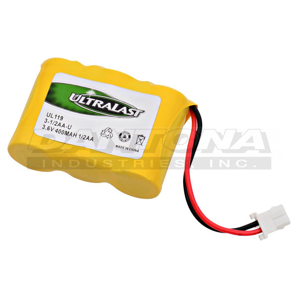 3.6V 400MaH NiCad Battery 3-1/2AA-U