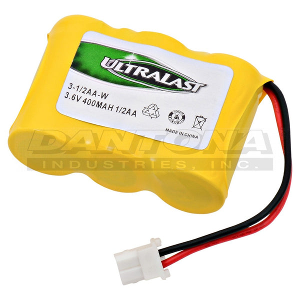 3.6V 400MaH NiCad Battery 3-1/2AA-W