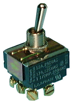 Philmore 30-10239 Heavy Duty Toggle Switch ~ 3PST ON-OFF 17A @ 125V, 12A @ 250V