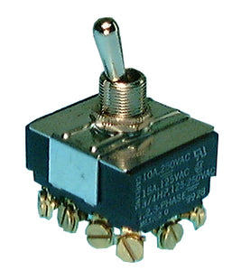 Philmore 30-10245 Heavy Duty Toggle Switch ~ 4PST ON-OFF 15A @ 125V, 10A @ 250V