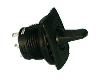 Philmore 30-10326 SPDT ON-OFF-ON, Round Paddle Lever Toggle Switch 6A@125V AC