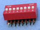 Philmore 30-11081 8 Position DIP Switch, Side Activated ON-OFF 100mA@50V DC