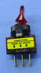 Philmore 30-12174 SPST ON-OFF Red Glow Duckbill Toggle Switch 20A@12-14V DC