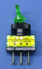 Philmore 30-12179 SPST ON-OFF Green Glow Duckbill Toggle Switch 20A@12-14V DC