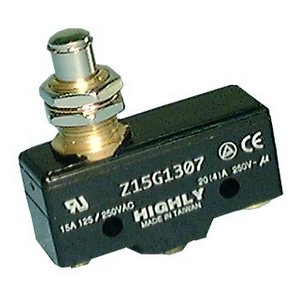 Philmore 30-1307 SPDT ON-(ON) Plunger, Snap Action Momentary Switch Z15G1307