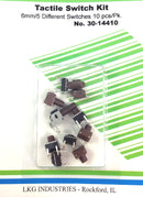 Philmore 30-14410 10 Piece Designer Kit of Tactile Switches