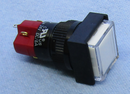 Philmore 30-14530 DPDT ON-ON Maintained Square Clear Lighted Push Button Switch
