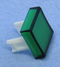 "Philmore 30-14535 Green Lens for 0.60"" Square Lighted Push Button Switches"