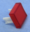 "Philmore 30-14537 Red Lens for 0.60"" Square Lighted Push Button Switches"