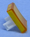 "Philmore 30-14544 Yellow Lens for 0.60"" x 0.85"" Rectangular Lighted Push Button"