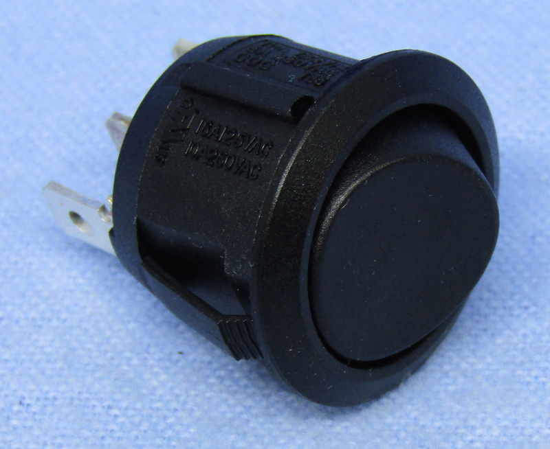 Philmore 30-16070 SPDT ON-ON Round Snap-In Rocker Switch 10A@125V AC
