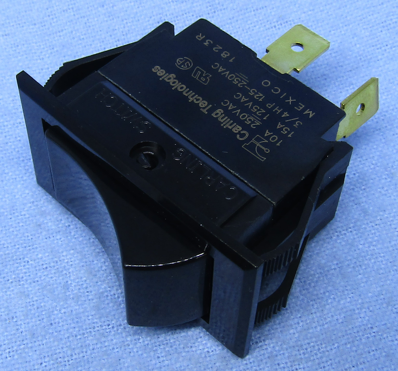 Philmore 30-16600 SPST OFF-ON Maintained, Heavy Duty Rocker Switch ~ 15A@125V AC