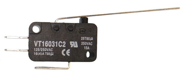 Philmore 30-2040 SPDT ON-(ON) Long Lever, Mini micro Switch 16A@1125/250V AC