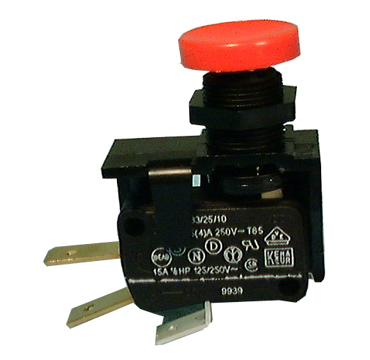 Philmore 30-383 SPDT ON-(ON) Push Button Plunger, Momentary Snap Action Switch