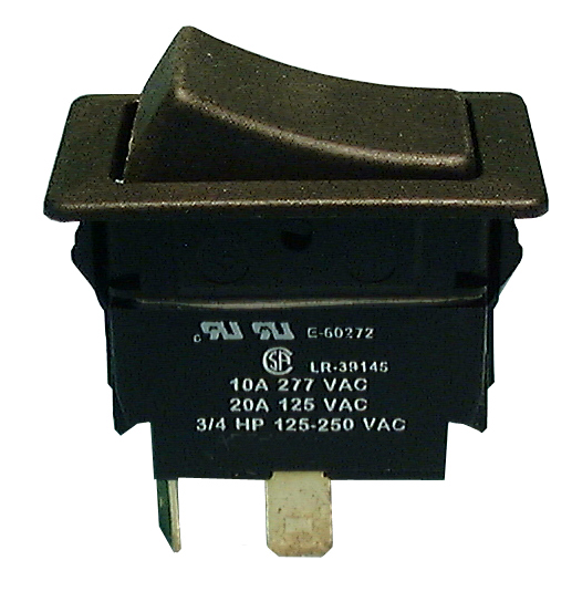 Philmore 30-600 SPST OFF-ON Maintained, Heavy Duty Rocker Switch ~ 20A@125V AC